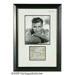 Frank Sinatra Signed Automobile Registration. Fea