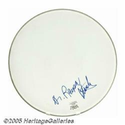 "Ralph Stanley Signed Banjo Head. Signed ""Dr. Ralp"