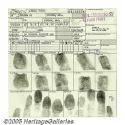 Cat Stevens Arrest Card. Featured is Stevens' arr