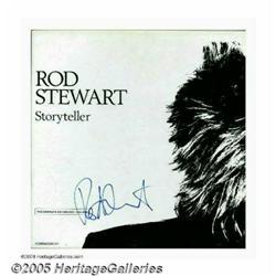 "Rod Stewart Signed ""Storyteller"" Box Set (1990)."
