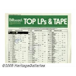 Sting Signed Billboard Chart. Billboard Top LPs S