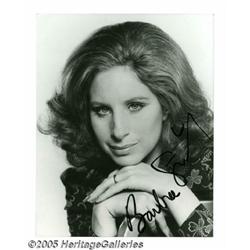 Barbra Streisand Signed Photograph. A cabaret sin