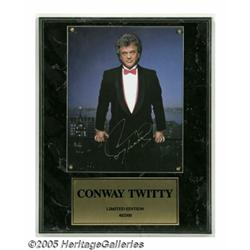 Conway Twitty Signed Photograph. Color photo moun