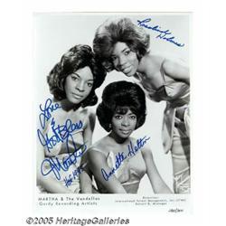 Martha & the Vandellas Signed Publicity Still. Ma
