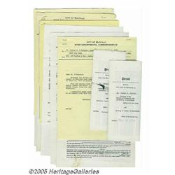 Various Rock Contracts, Group of 8 (1972-74). Fea