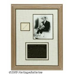 Hank Williams, Sr. and Hank Williams, Jr. Signatu