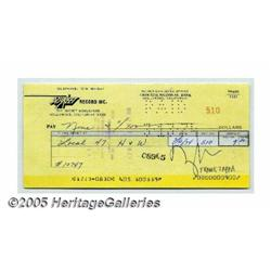 Frank Zappa Signed Check. A signed check from equ
