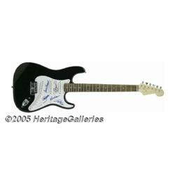 Doobie Brothers Signed Guitar. One of the most po