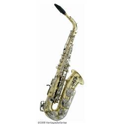 Bill Clinton's Fleetwood Mac Signed Saxophone. An
