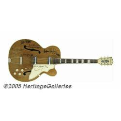 Memphis Gang Signed Guitar. Here is a vintage Sil