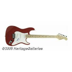 Shania Twain Signed Guitar. Exploding onto the sc