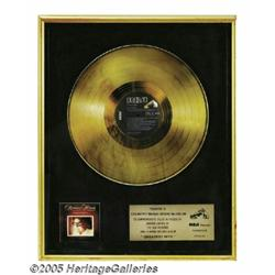 Ronnie Milsap Gold Record. Here is a beautiful, f