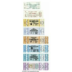 Unused Concert Tickets, Group of 8 (Various). Her
