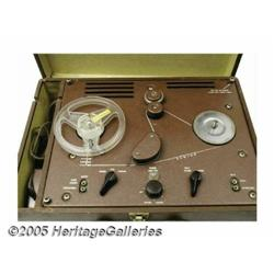 Hank Williams, Sr. Reel to Reel Tape Recorder. Th