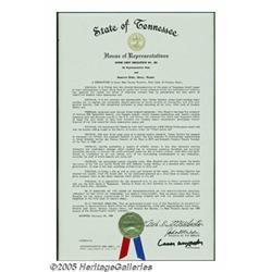 Tammy Wynette Proclamation. Along with Loretta Ly