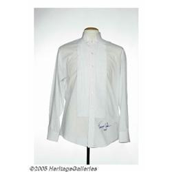 Tommy Cash Signed Tuxedo Shirt. This white tuxedo