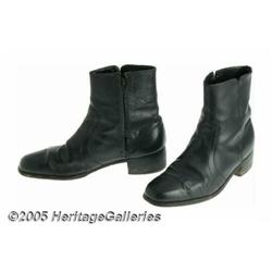 """Johnny Cash- Pair of Zip-Up Black Boots """"The Man"""