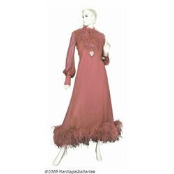 Loretta Lynn Pink Dress with Feathers. Loretta Ly