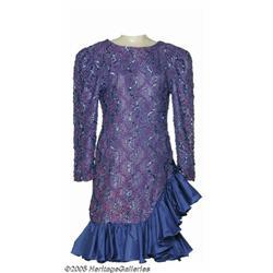 Loretta Lynn Dress. This blue-and-purple dress, o