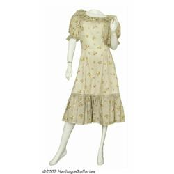 Minnie Pearl Dress, Hat, and Museum Mannequin Hea