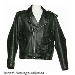 Ramones Signed Leather Jacket. Technically, they