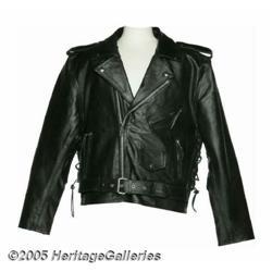 """Ramones """"Mondo Bizarro"""" Leather Tour Jacket. Blac"""