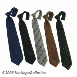 Frank Sinatra Neckties Group of 5. Featured in th