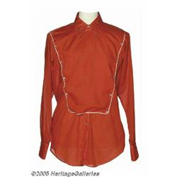 Hank Williams, Jr. Red Shirt with Pearl Buttons,