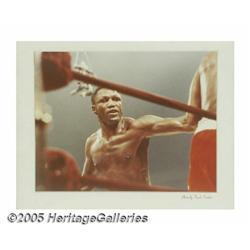 Four Frank Sinatra Photographs of Ali vs. Frazier