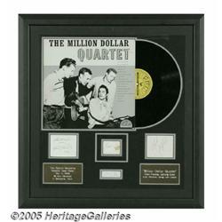 Million Dollar Quartet Album and Signatures Displ