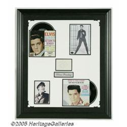 Elvis Presley Framed Signature Display. A small c