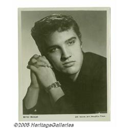 Elvis Photograph with Signed Note from Bill Black