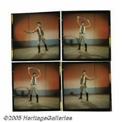 """Elvis Color Negatives. Four 1""""-square color negat"""