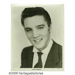 "Elvis Presley Signed Photograph. A '50s-era 8"" x"