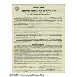 Elvis Signed Contract with Photos. 1955 was an im