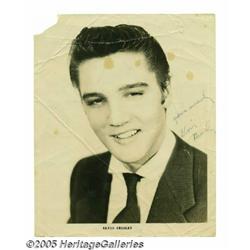 Elvis Presley Signed Photograph. Elvis Presley ma