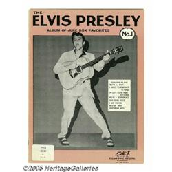 """Elvis Presley 1956 Music Book. A copy of """"The Elv"""