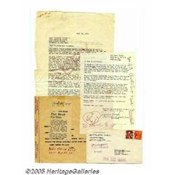 Elvis Fan Club Letters and Telegram. These letter