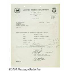 Elvis Memphis Police Department Bill (1969). Here