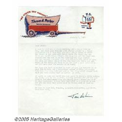 Colonel Parker Signed Letter to Elvis. One of the