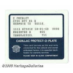Elvis Presley Cadillac Protect-O-Plate. Featured