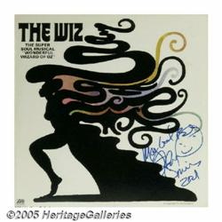 "Signed ""The Wiz"" Soundtrack LP Atlantic 18137 Ste"