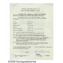 Victor Borge Signed Contract. Here is a standard