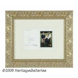 Charles and Diana Signed Christmas Card. Here is