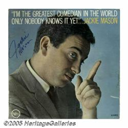 "Jackie Mason Signed ""I'm the Greatest Comedian In"