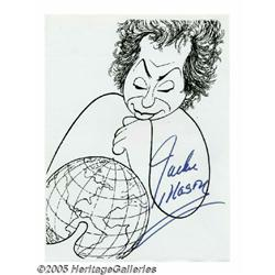 Jackie Mason Signed Caricature. In this lot is a