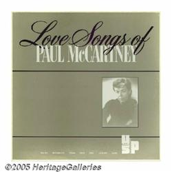 "Paul McCartney ""Love Songs of Paul McCartney"" LP"