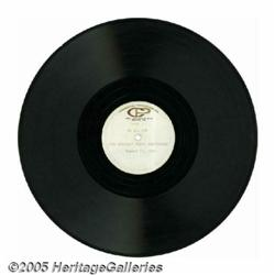 Beatles Press Conference 12-inch Acetate. Recorde