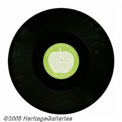 "Beatles Apple Records ""Hey Jude"" Acetate. A 10"" E"