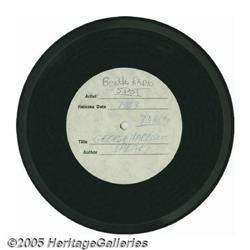 "Beatles George Harrison Radio Spot Acetate. A 7"""